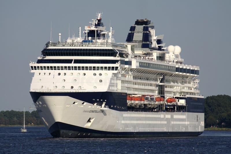 CONSTELLATION de CÉLÉBRITÉ sur la Manche de la Mer du Nord image libre de droits