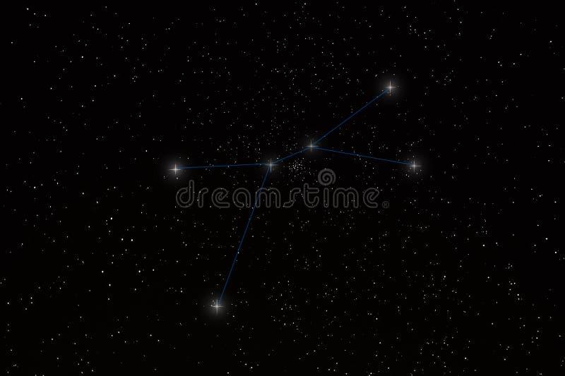 Constellation de Cancer image libre de droits