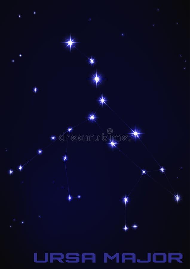 Constellation de commandant d'Ursa illustration stock