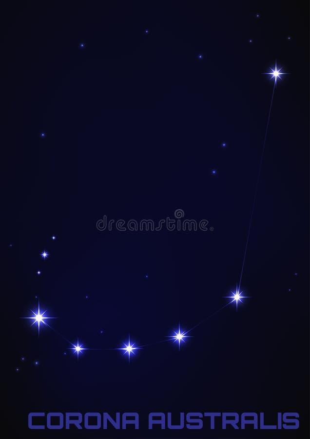 Constellation de Corona Australis illustration de vecteur