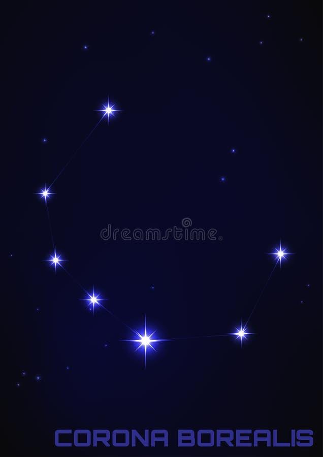 Constellation de Corona Borealis illustration libre de droits
