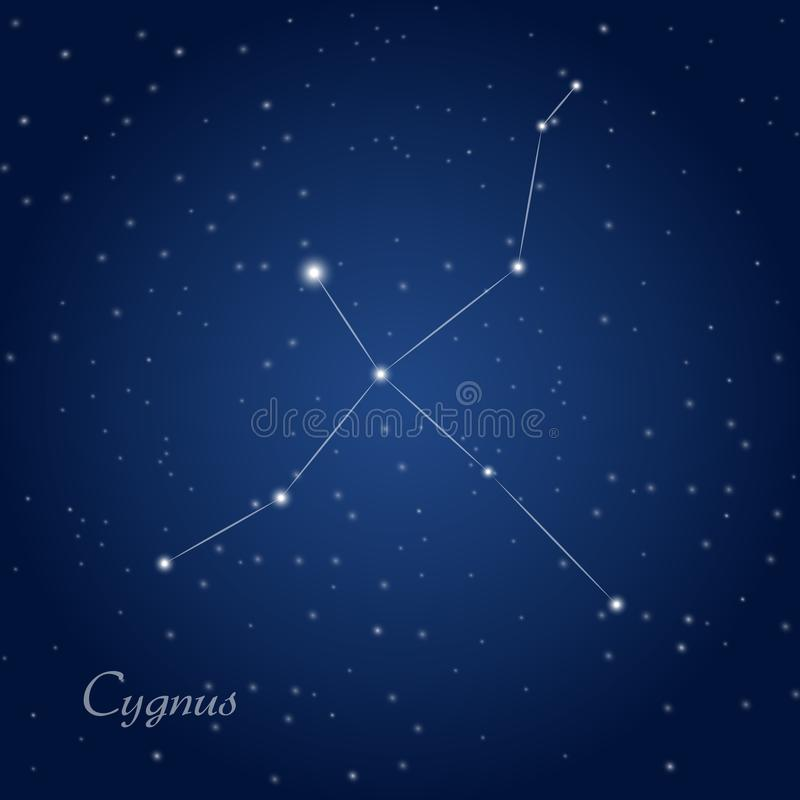 Constellation de Cygnus illustration libre de droits