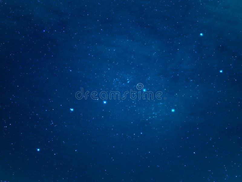 Constellation de grand huit au ciel étoilé images libres de droits