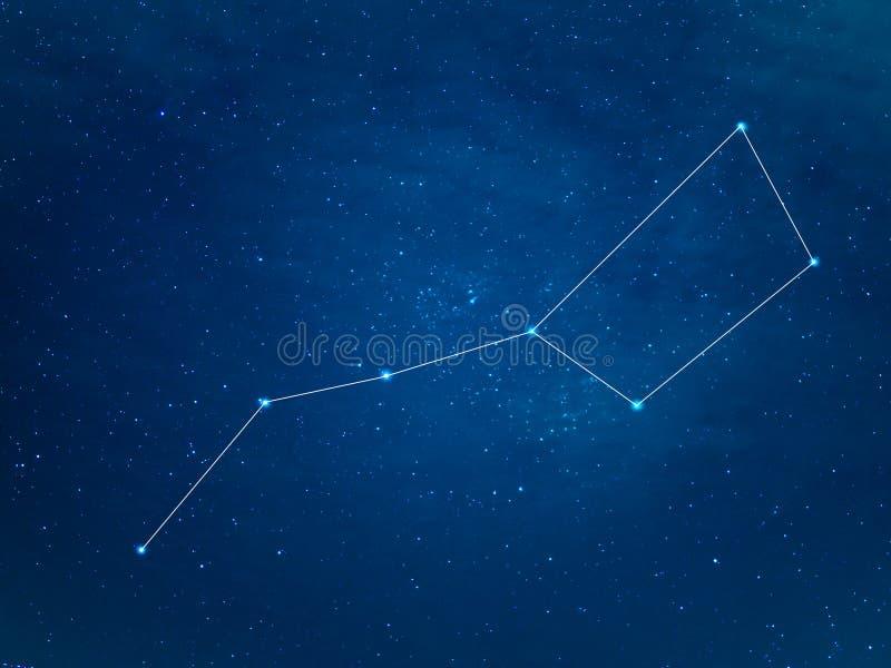 Constellation de grand huit au ciel étoilé photo stock