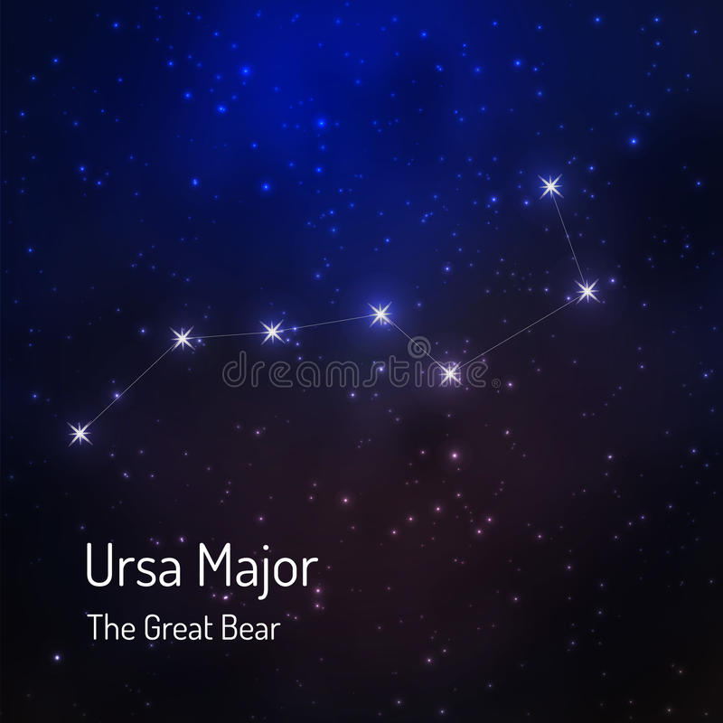 Constellation de grand ours illustration stock