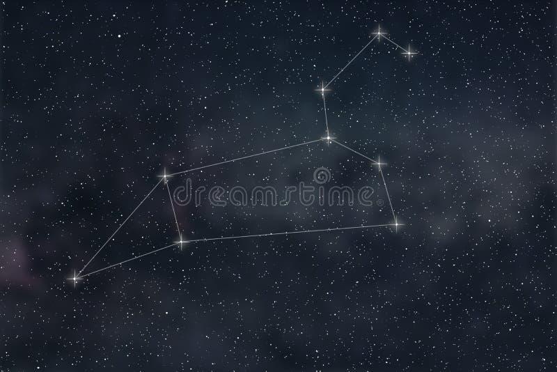Constellation de Lion Lignes de constellation de Lion de signe de zodiaque illustration de vecteur