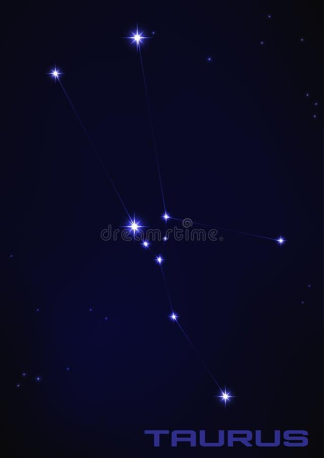 Constellation de Taureau illustration libre de droits