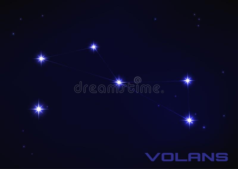 Constellation de Volans illustration stock