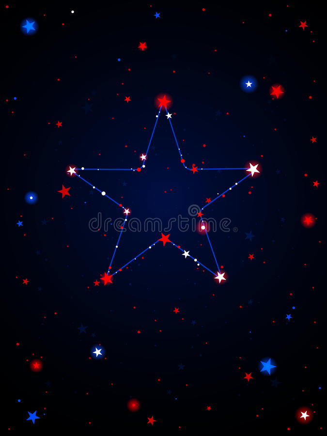 Constellation des Etats-Unis illustration stock
