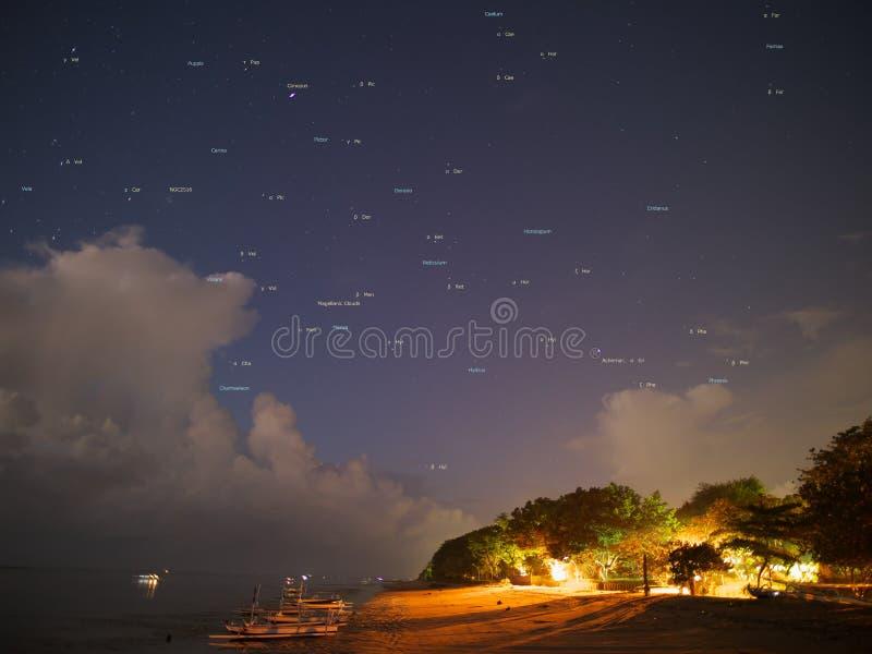 Constellation& do sul x28; Bali, Indonesia-5: 18AM, outubro 4,2016& x29; foto de stock