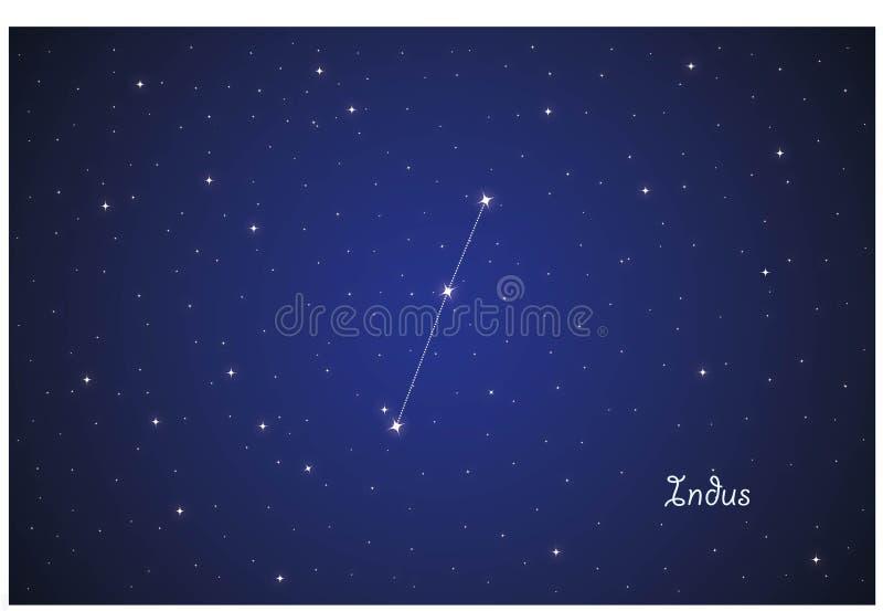 Constellation of Indus royalty free illustration