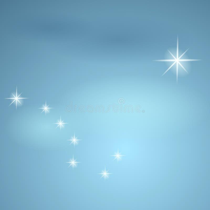 Constellation l'ours grand et l'étoile polaire. illustration de vecteur