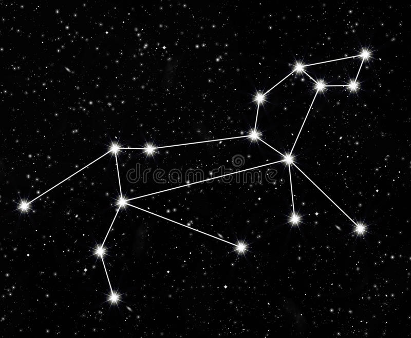 Constellation Lion illustration libre de droits