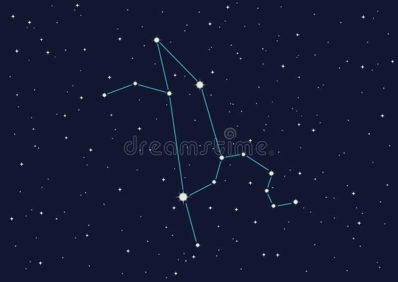 Constellation Lion illustration stock