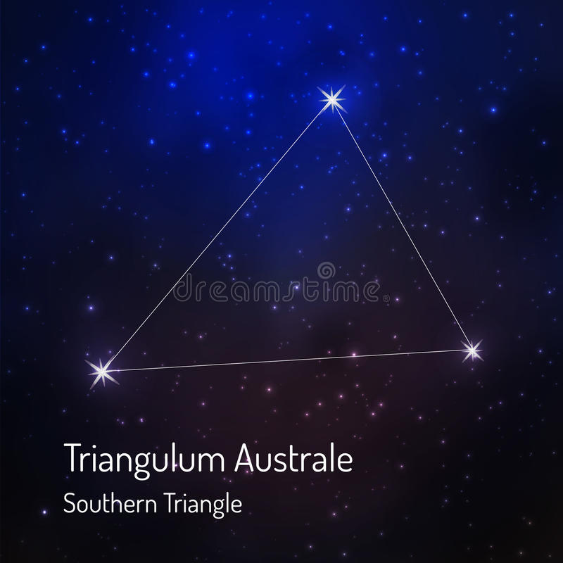 Constellation in the night starry sky royalty free illustration