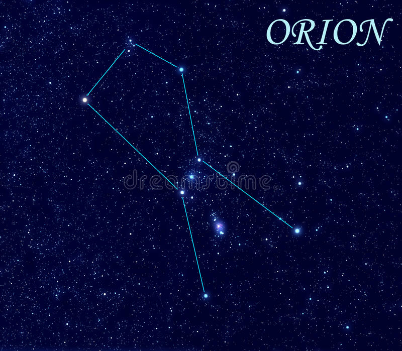 Constellation Orion illustration de vecteur