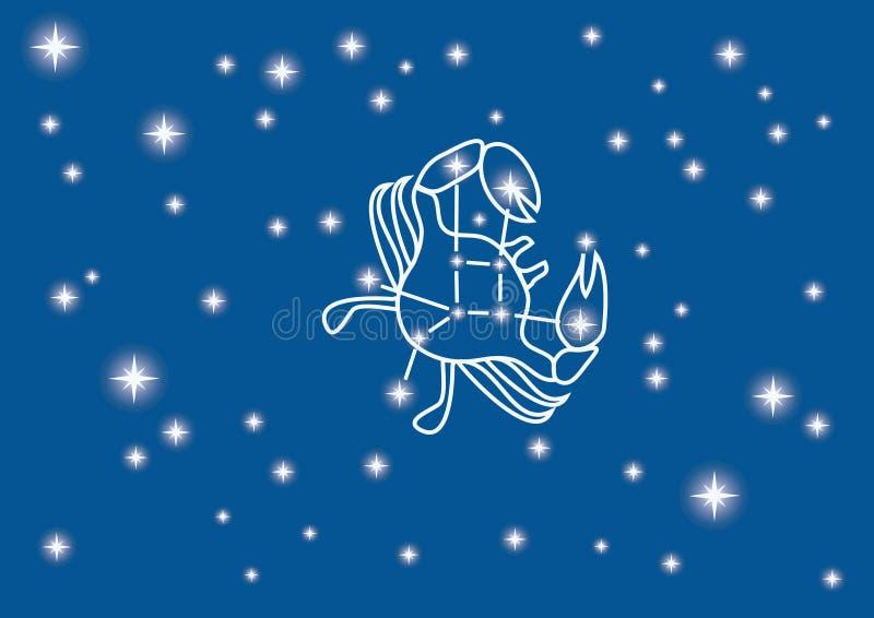 constellation raka ilustracja wektor