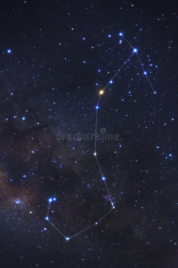 Constellation Scorpius et galaxie de manière laiteuse photographie stock libre de droits