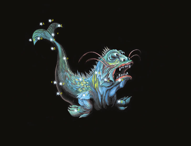 Download Constellation The Sea Monster Stock Illustration - Image: 12135104