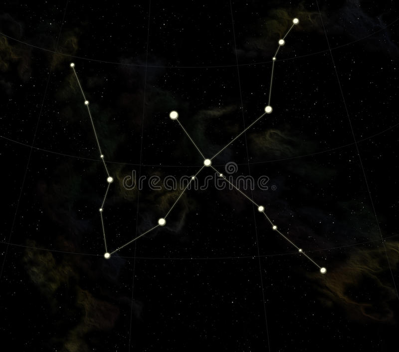 Download Constellation is Swan stock illustration. Image of world - 9924615