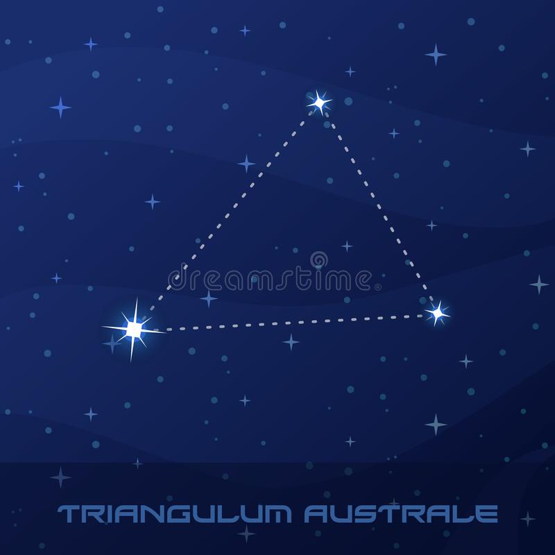 Constellation Triangulum Australe, triangle du sud illustration libre de droits