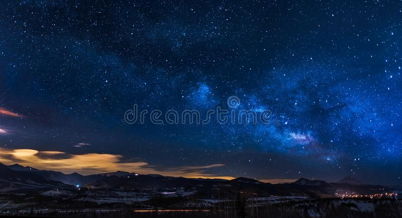 Constellations In A Beautiful Night Sky royalty free stock image