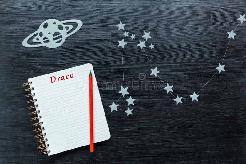 Constellations Draco royalty free stock photography