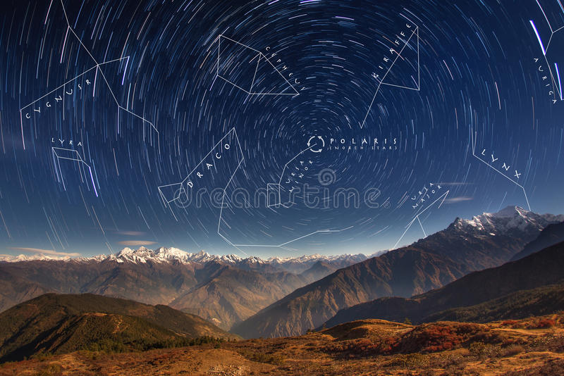 Constellations in Northern Hemisphere royalty free stock image
