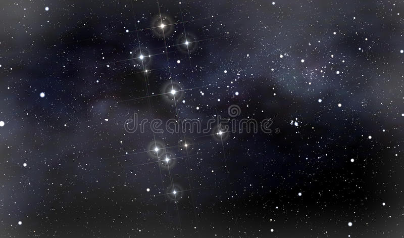Constellations of Southern Cross and Moscow vector illustration