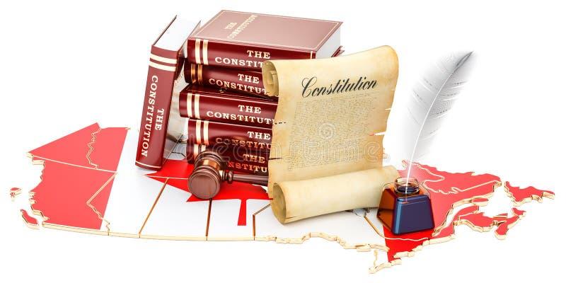 Constitución del concepto de Canadá, representación 3D ilustración del vector
