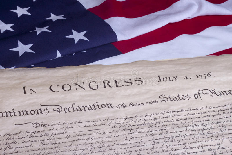 Constitución del documento histórico los E.E.U.U. foto de archivo libre de regalías