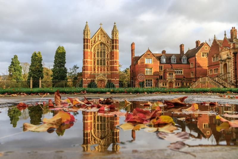 Selwyn College established in 1882. It is a constituent college in the University of Cambridge in England royalty free stock photo