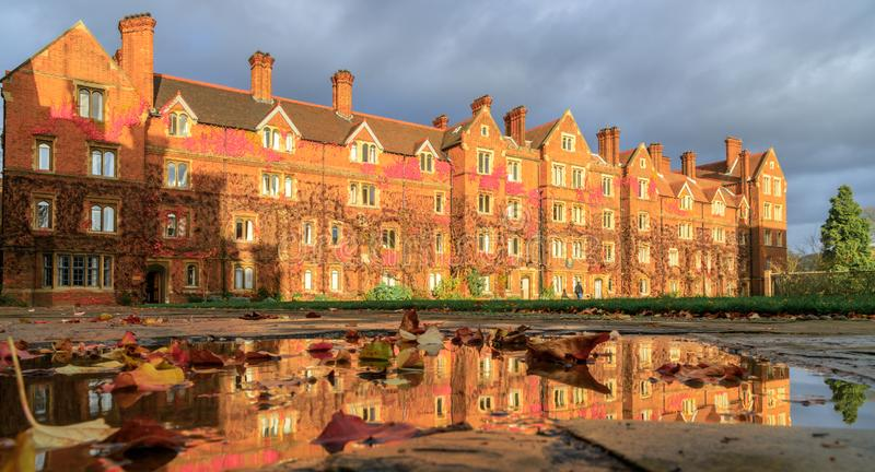 Selwyn College established in 1882. It is a constituent college in the University of Cambridge in England stock images