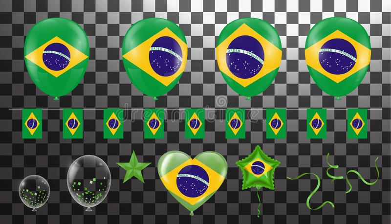 Constituent illustration vector celebration for victory and winn. Er to do background celebrated Brazilian, football, World Cup royalty free illustration
