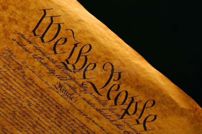 Constituição de Estados Unidos II foto de stock royalty free
