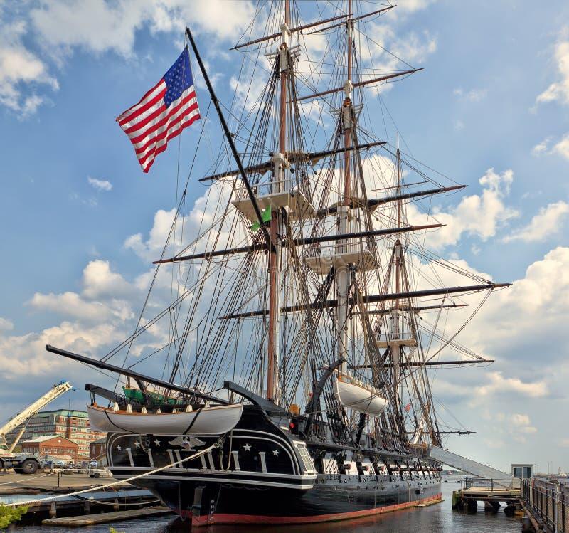 Constituição de USS (Ironsides idoso) foto de stock