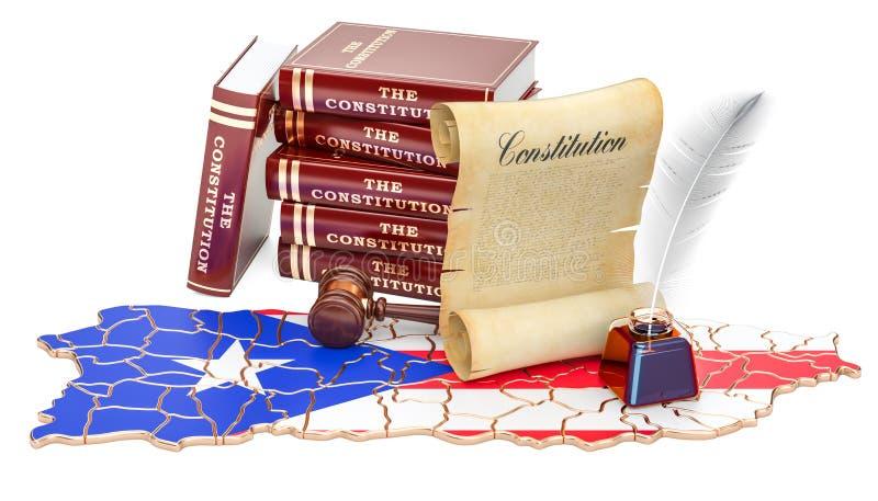 Constituição do conceito de Porto Rico, rendição 3D ilustração do vetor