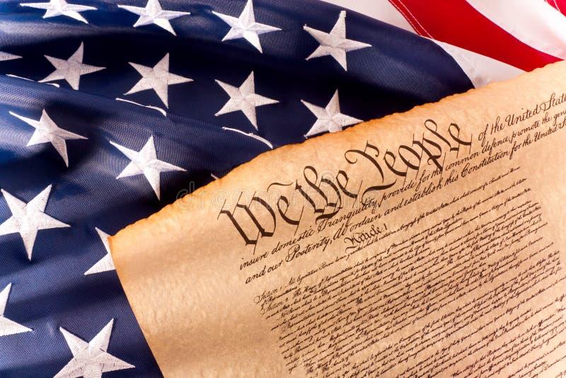 Constituição dos E.U. - nós os povos foto de stock royalty free
