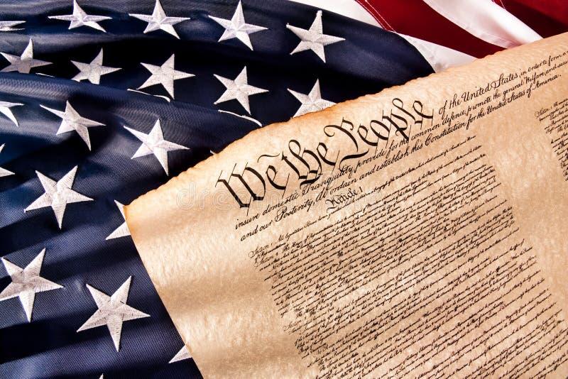 Constituição dos E.U. - nós os povos imagem de stock royalty free