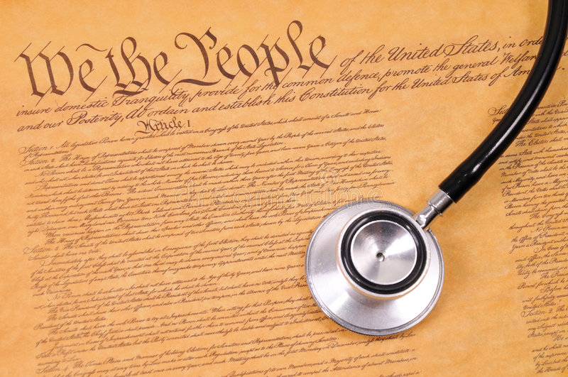 Constituição e estetoscópio dos E.U. imagens de stock