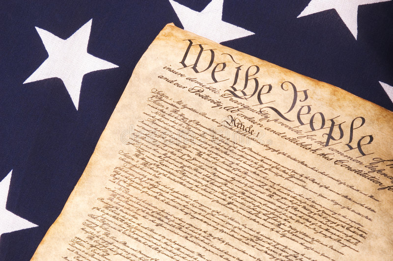 Download Constitution on Flag stock image. Image of constitution - 2575369