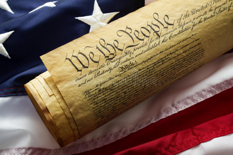 Constitution of the United States stock image