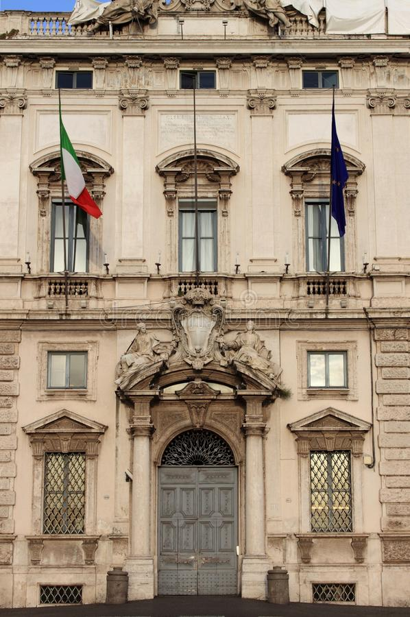 Download Constitutional Court Palace In Rome Stock Image - Image of court, entrance: 14861277
