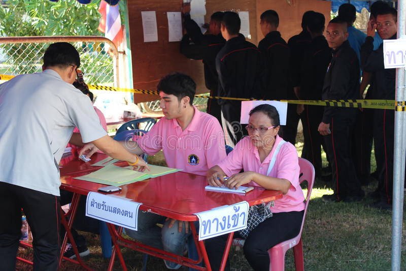 Constitutioneel referendum Khon Kaen, Thailand stock foto