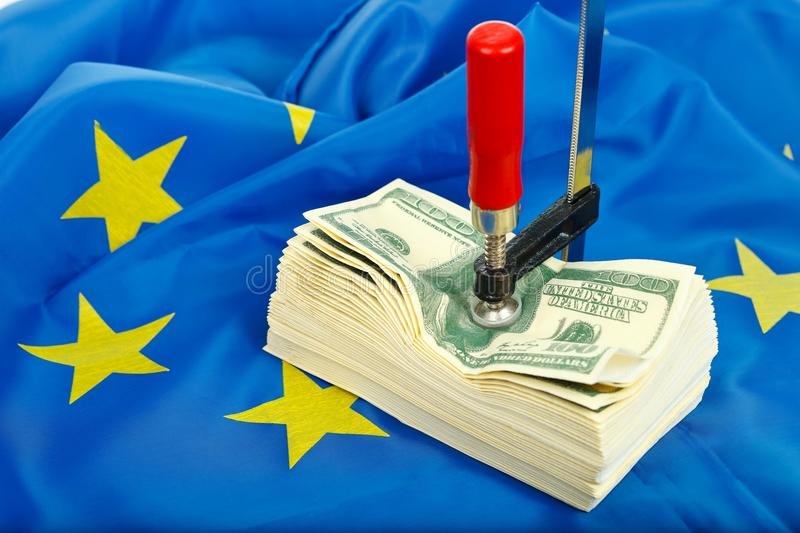 Download Constraints For The Dollar In The EU Stock Image - Image: 23971573