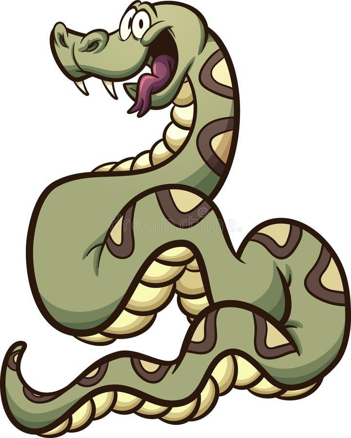 Constrictor de boa feliz dos desenhos animados ilustração stock