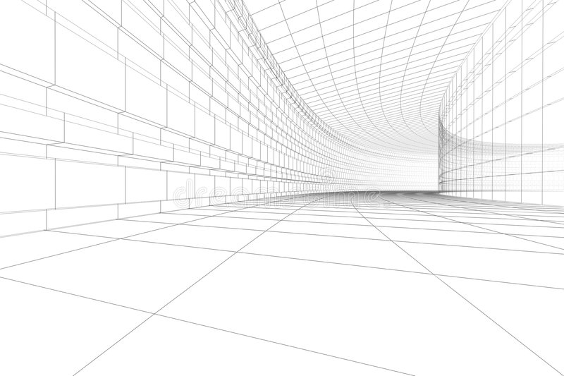 construção 3D arquitectónica ilustração do vetor