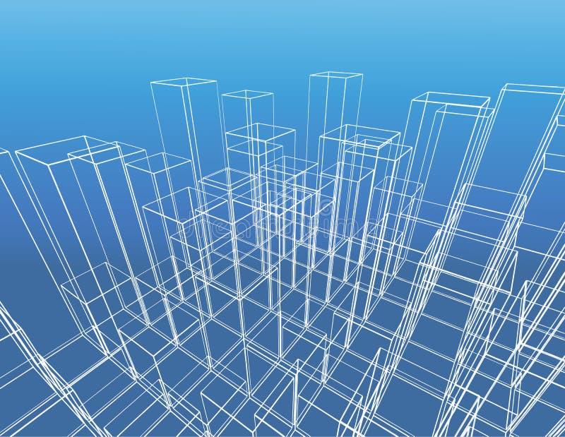 Construção abstrata do vetor da cidade ilustração do vetor
