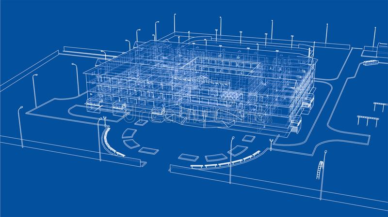 Construção abstrata Vetor ilustração do vetor
