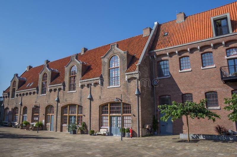 Construção anterior da prisão no Oostereiland em Hoorn fotografia de stock royalty free